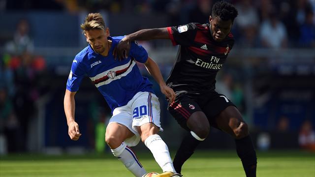 «Милан» на выезде проиграл «Сампдории»