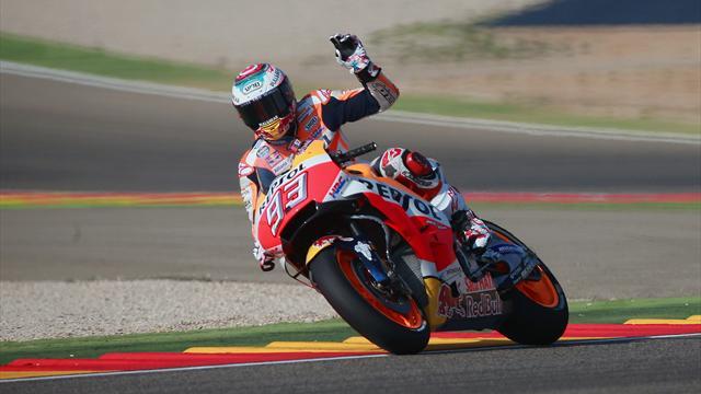 Márquez gana en Motorland liderando el triplete español en MotoGP