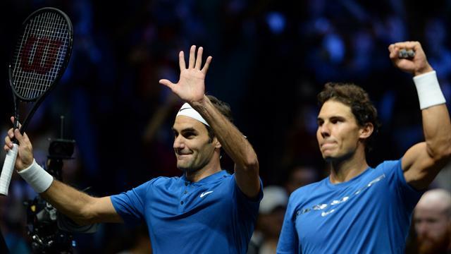 Nadal et Federer ensemble : les images d'un double historique