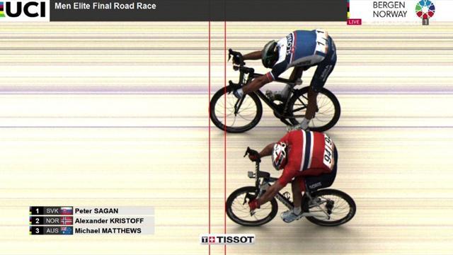 Mundiales Bergen: Sagan, tricampeón del Mundo en Bergen 2017