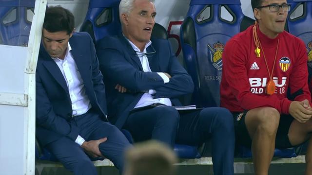 Le coach de Valence se claque en célébrant le but de son équipe