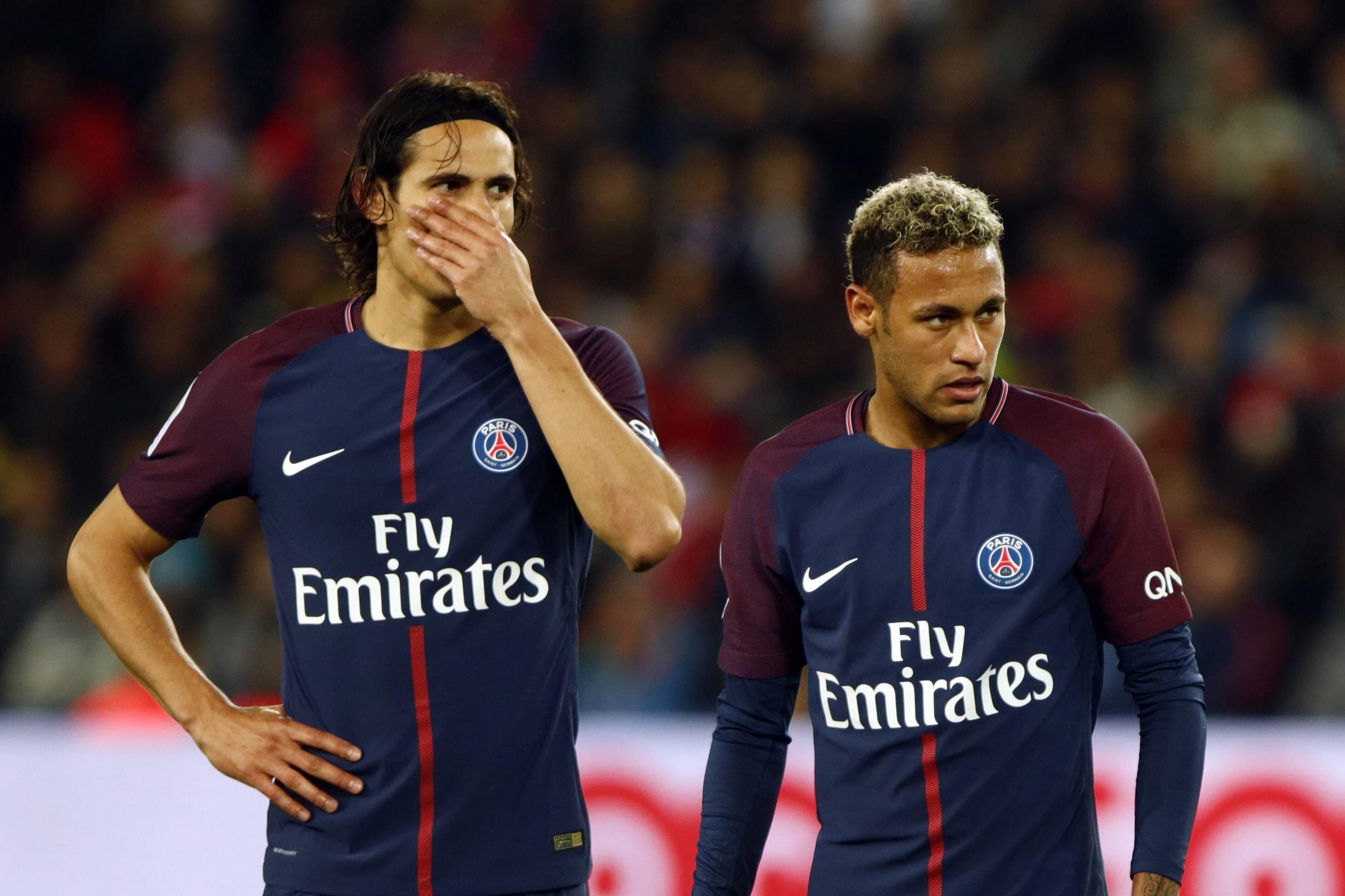 Edinson Cavani (l.) und Neymar