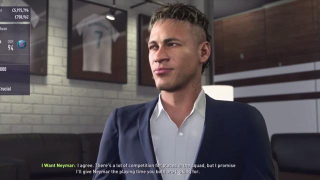 Неймара можно выкупить у «ПСЖ» в карьере FIFA 18 не раньше 2019 года за 236,7 миллиона евро