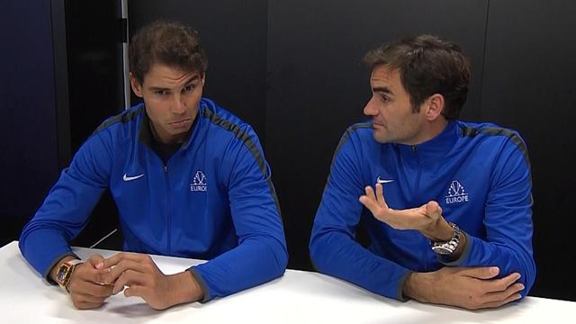 Nadal and Federer talk tactics ahead of doubles clash