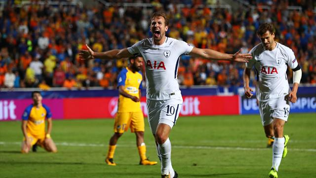 Kane plunders hat-trick as Tottenham crush APOEL Nicosia