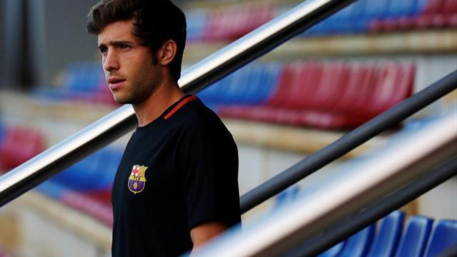 Sergi Roberto en el once de gala del Barça; el Sporting apuesta por Doumbia