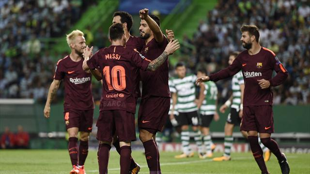 Lacklustre Barcelona need own-goal to edge past Sporting