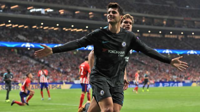 Michy Batshuayi trolls Diego Costa after scoring victor against Atletico Madrid