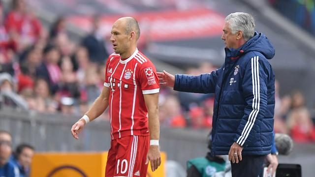 Robben refuses to back Bayern boss Ancelotti