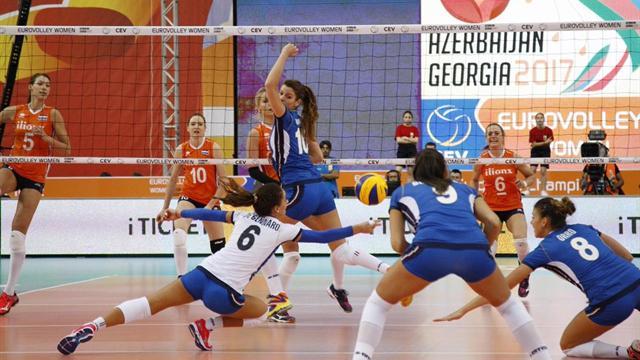 Troppa Olanda per le azzurre, Italia ko 3-0 ai quarti di finale