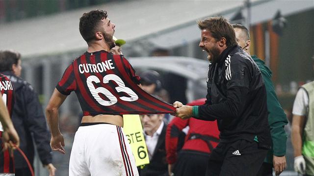 Milan, è provvidenza Cutrone: segna e salva il Milan in extremis