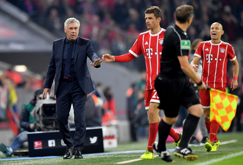 Carlo Ancelotti, Thomas Muller et Arjen Robben - Bayern Munich