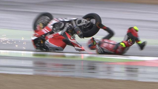 Savadori flips off bike in nasty Magny-Cours crash