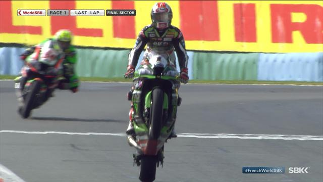 Rea wins third straight title after spectacular ride