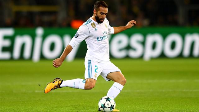 Carvajal de retour à l'entraînement du Real Madrid