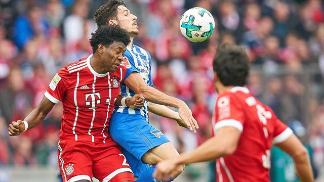 Sagnol stecca la prima: Bayern rimontato e bloccato 2-2 a Berlino dall'Hertha