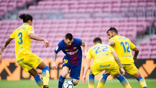 El Barça no falla a puerta cerrada ante Las Palmas en un nuevo partidazo de Messi (3-0)