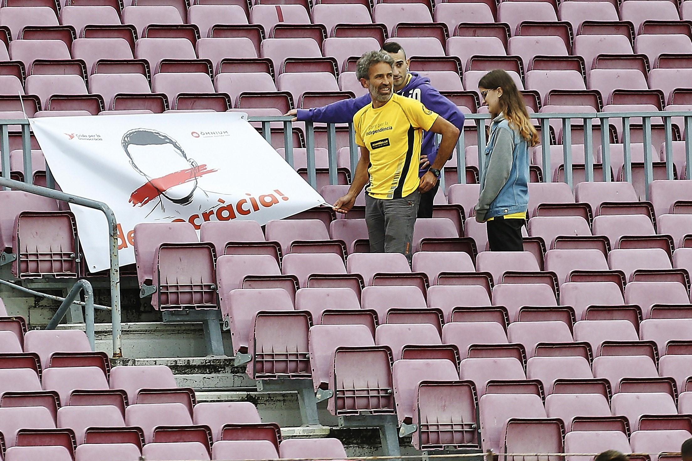Aficionado de Las Palmas que invadió el Camp Nou