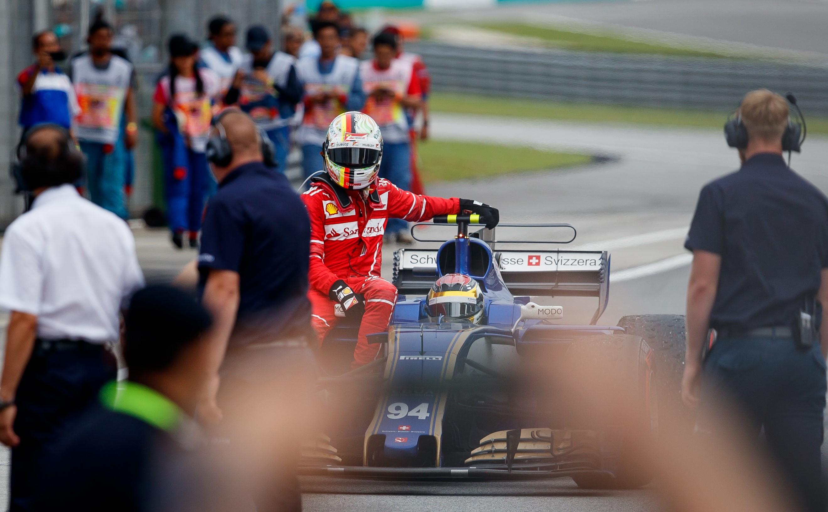 Sebastian Vettel (Ferrari) au Grand Prix de Malaisie 2017