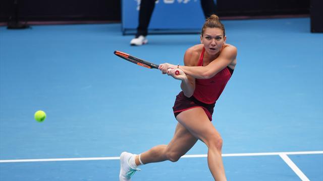 Halep sets up Sharapova rematch in Beijing
