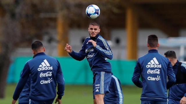 Llega Messi y Argentina entrena con plantel completo para enfrentar a Perú