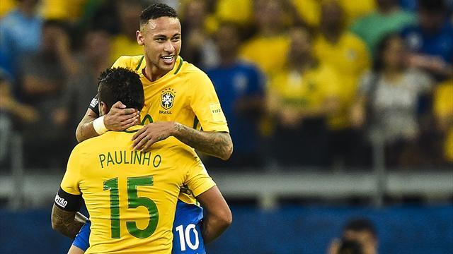 Неймар из-за повреждения покинул тренировку Бразилии