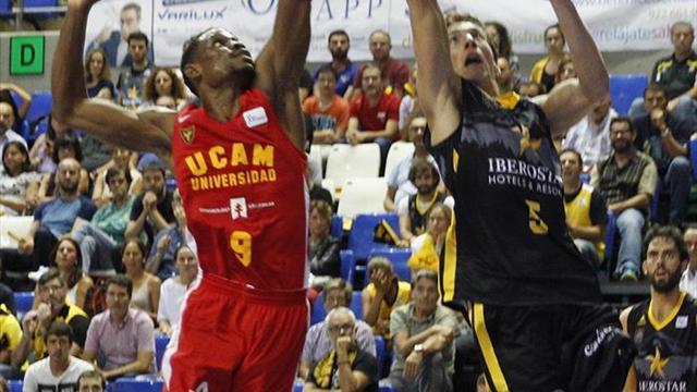 84-78. Un buen último cuarto del Iberostar Tenerife acaba con el UCAM Murcia