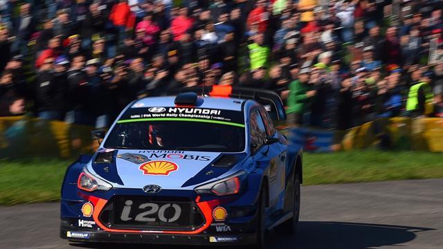Kris Meeke en tête à la mi-journée — Rallye de Catalogne