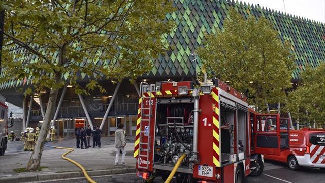 Retrasada la apertura del Bilbao Arena por una humareda en el pabellón
