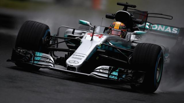 Prove libere 2: domina la pioggia, miglior tempo Hamilton, Vettel non gira