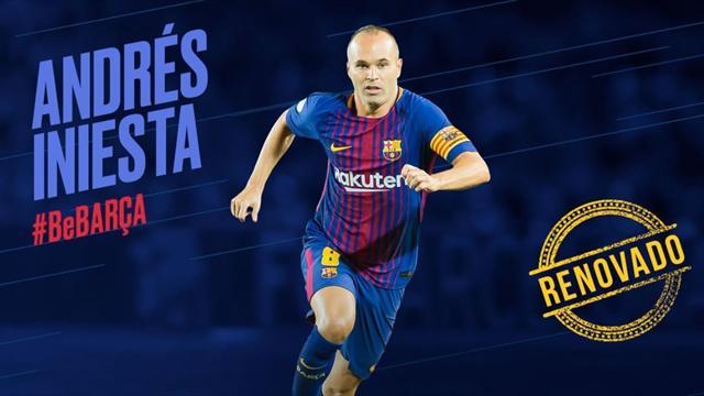 Barcellona, per Andres Iniesta arriva il rinnovo... a vita!