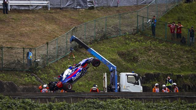 Sainz da el susto en Suzuka y Vettel y Hamilton se reparten los mejores tiempos