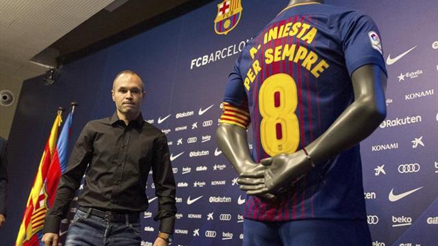 """Iniesta renueva """"de por vida"""" con el Barcelona"""