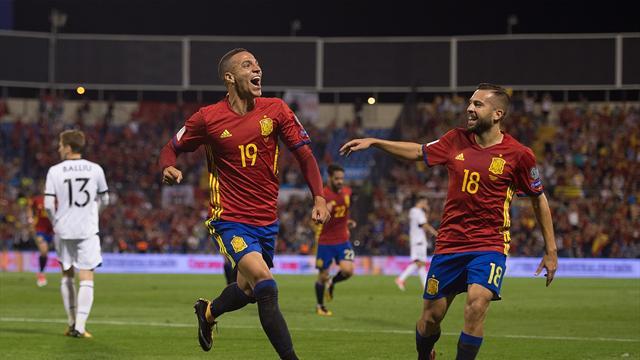 España golea a Albania (3-0) y sella su clasificación para el Mundial de Rusia 2018