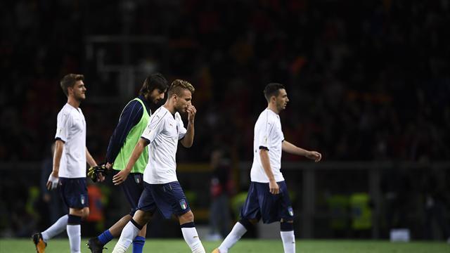 Clasificación Mundial 2018, Italia-Macedonia: A la repesca (1-1)