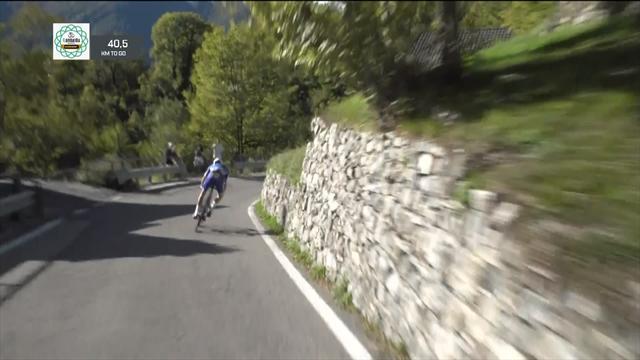 Де Плю не вписался в поворот и упал с жутчайшей высоты за пределы трассы