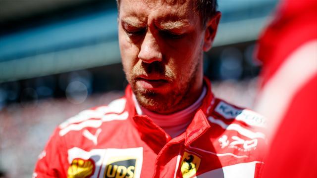 """Vettel accuse le coup : """"Ça fait mal…"""""""