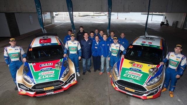 Avrupa Ralli Şampiyonası'nın takımlar lideri Castrol Ford Team Türkiye