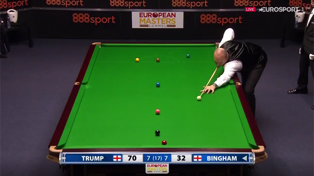 'He doesn't want that in!' - Bingham flukes an unwanted red