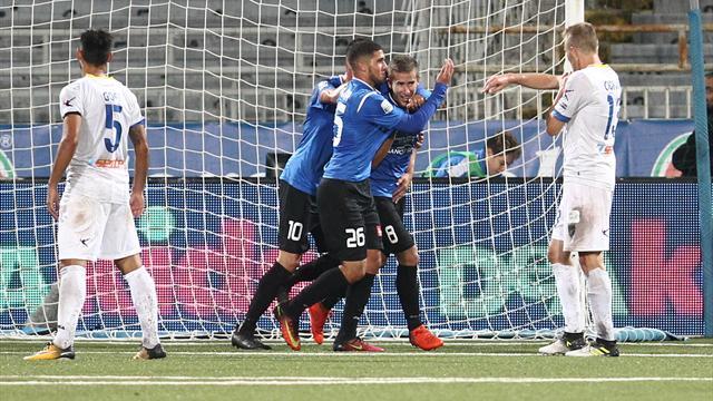 Il Novara di Corini si rilancia: battuto il Frosinone 2-1, frenata per i ciociari
