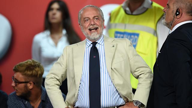 """De Laurentiis: """"E' il Napoli l'anti-Juve. Non scambiarei Sarri con Guardiola. La Var è utile"""""""