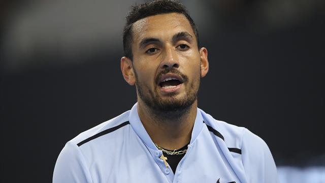 Kyrgios retires in bizarre circumstances against Johnson, blames 'stomach bug'