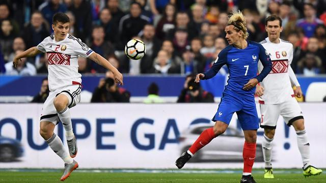 Франция обыграла белорусов и вышла на ЧМ-2018
