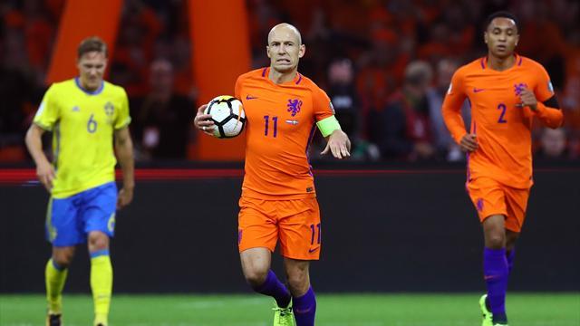 Netherlands fail to reach play-offs despite Robben brace