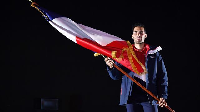 Fourcade viheti a francia zászlót
