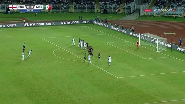 Brewster curls home astonishing free-kick to open scoring for England