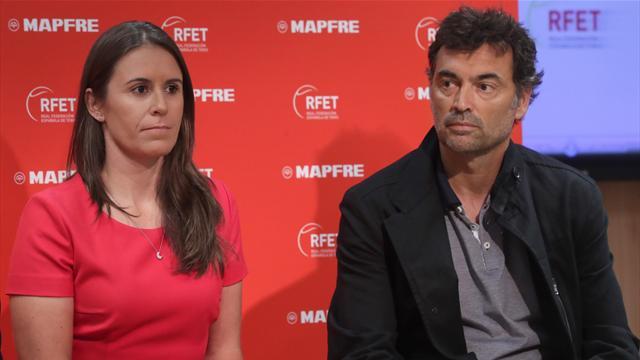 Sergi Bruguera y Anabel Medina presentados como capitanes: El sueño compartido de dirigir a España