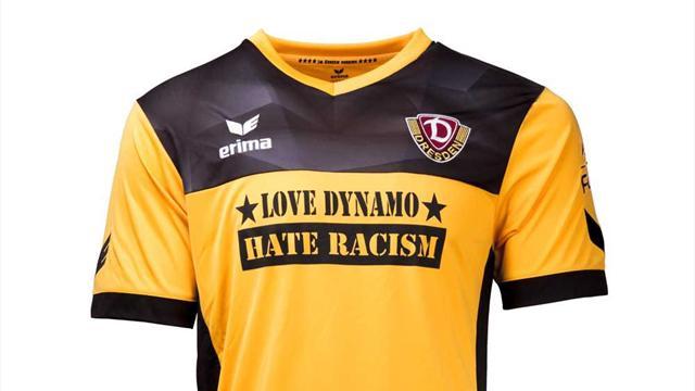 """Dynamo Dresden mit Sondertrikot gegen Rassismus: """"Love Dynamo - Hate Racism"""""""