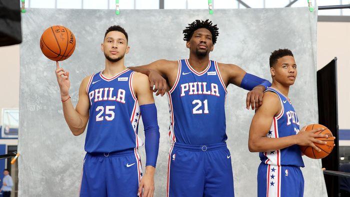 Les trois pépites des Philadelphie Sixers Ben Simmons, Joel Embiid et Markelle Fultz