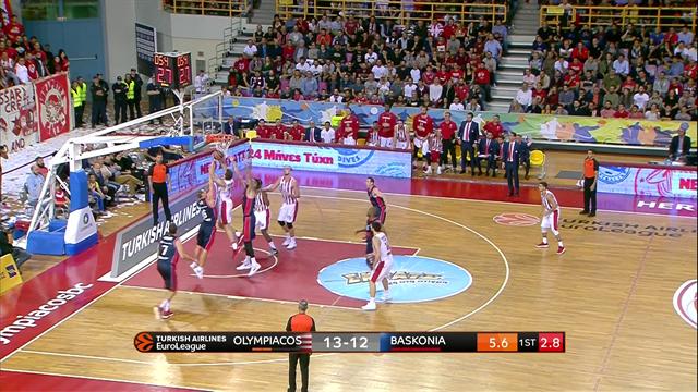 Highlights: Olympiacos Piraeus-Baskonia Vitoria Gasteiz 75-64